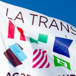 Drapeau Transat AG2R la Mondiale - en partenariat avec la CCI Quimper
